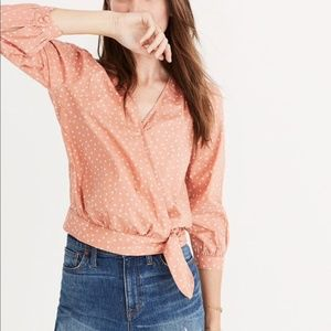 Madewell Star Scatter Wrap Top L NWT